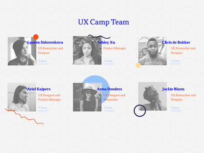 Amstedam UX Camp – Team barcamp event conference bold type geometric illustration landing page website uxcamp ux amsterdamux amsterdam