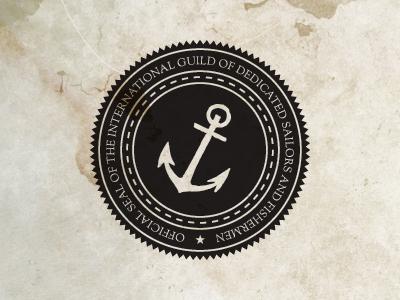 Sailors And Fishermen emblem seal stamp anchor paper grunge nautical