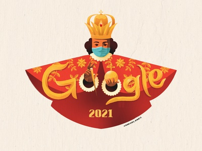 Sinulog Google Doodle 2021 drawing character design 2021 design 2021 adobe illustrator vector illustration stay safe wear a mask concept art google doodle sinulog