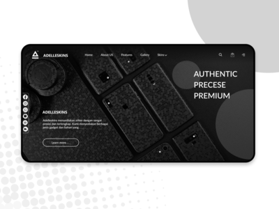 Landing Page from the Adelleskins Web