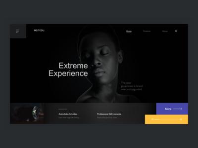 Official website of camera brand