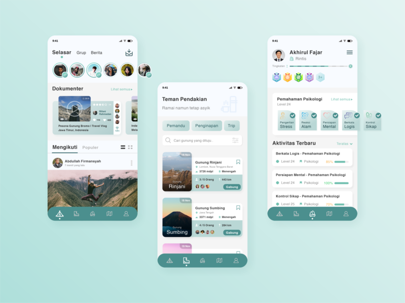 Ancala - Hiking App UI Design