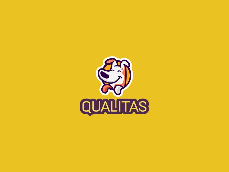 Qualitas Logo typography type web design minimal lettering branding logo illustrator vector