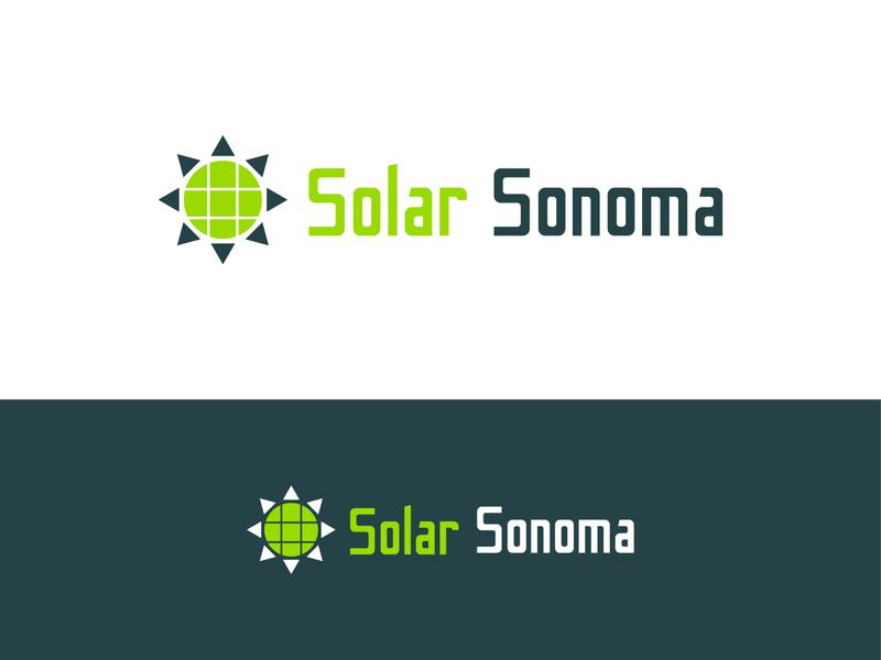 Solar Sonoma animation modern typography minimal lettering flat branding logo illustrator vector