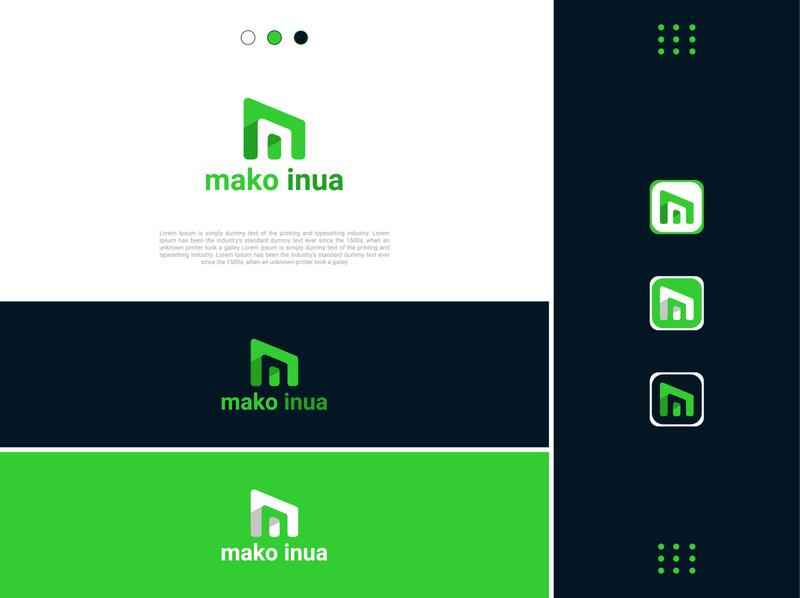 Mako inua typography minimal branding vector illustrator logos web logo logo mockup logo template m letter lototype logo folio m logo logo design logotype logo