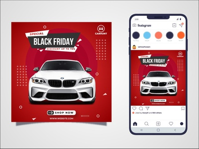 Car Social Media Post ui modern logo instagram tamplate social media post socialmedia minimal typography branding vector illustrator
