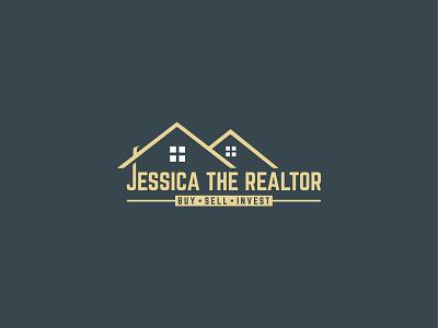 Real Estate Logo flat design type minimal lettering real estate logo typography logo branding vector illustrator