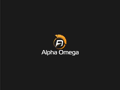 Alpha Omega design modern type minimal lettering typography logo branding vector illustrator