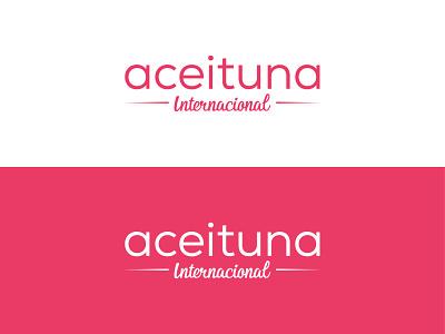 Aceituna Internacional illustration flat design type minimal lettering typography logo branding vector illustrator