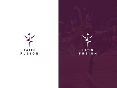 Latin Fusion flat design type minimal lettering typography logo branding vector illustrator