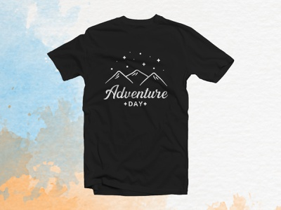 Adventure Day Tshirt design type minimal app advebture adventute tshirt lettering typography logo branding vector illustrator
