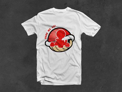 Mario Kart 64 Tshirt illustration type design lettering minimal vector branding typography logo texture tshirt illustrator