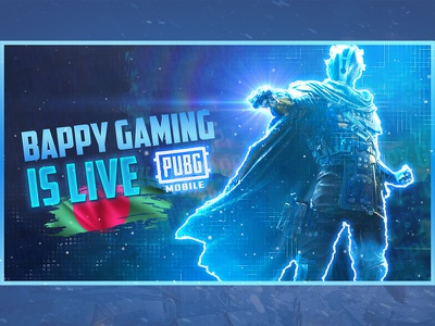 Pubg live Stream Thumbnail design lettering logo minimal typography branding vector gaming youtube thumbnail gaming thumbnail gaming vanner youtube thumbnail pubg banner pubg