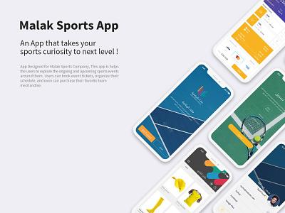 Malak Sports app ux ui sports app malak sports malak sports