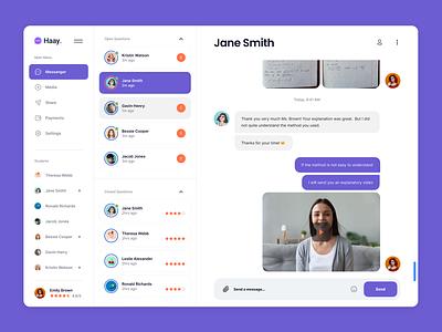 Messaging platform for Online Tutors platform tutor chat tutorial online ui message tutoring
