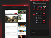 News Feed UI for Gaming Social Network