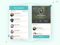 Find a Dog Sitter - Mobile UI