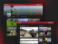 Gaming Social Network - Stream Feed UI