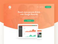 Mobile Rewards App Landing Page