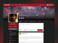 Gaming Social Network Profile UI