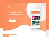 Dangle App Landing Page