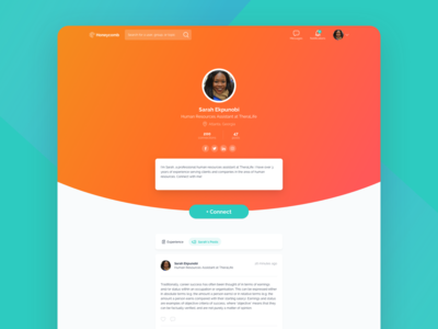 Honeycomb Profile Page