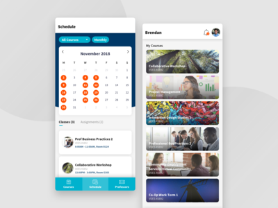 SheridanPro Mobile UI