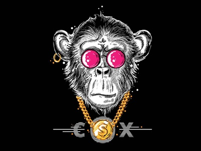 Addicted Chimp dope vector addiction chimp character crazy illustration