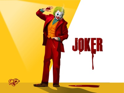 Joker adobeillustrator villian dccomics blood jokermovie design character vector illustration