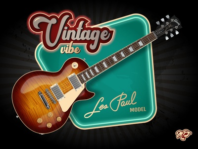 Realistic vector Gibson Les Paul adobeillustrator adobe music guitar retro vintage realistic design vector illustration