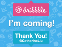 Dribbble,I'm coming! Thanks for invite!