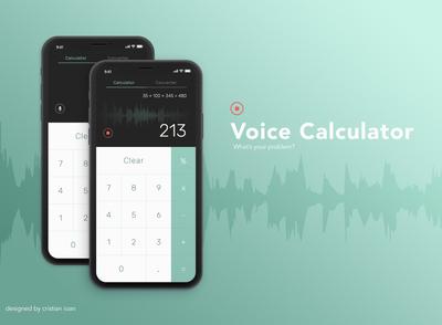 Voice Calculator (DailyUI 004)