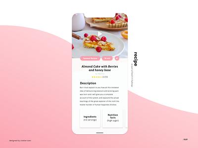 Recipe pink ingredients recipe card recipes dailyuichallenge 040 dailyui040 dailyui recipe app recipe