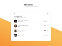 Favorites Panel