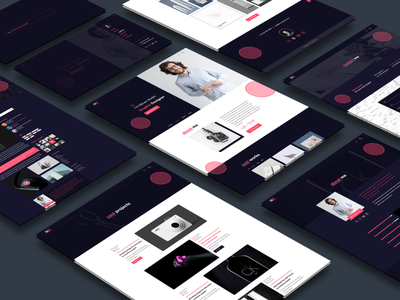 Nijhum - Personal and Creative Agency XD Template adobe xd one page landing page creative agency personal website web design ux design ui design psd template ui templates