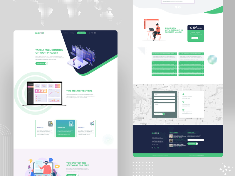 Adobe Xd Templates Designs Themes Templates And Downloadable Graphic Elements On Dribbble