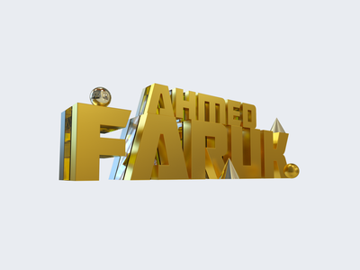 FARUK AHMED 3d artist trending product design web design print design typography 3d typography 3d art
