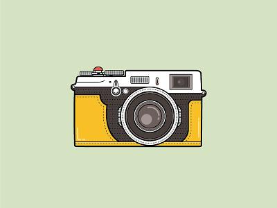 Fujifilm X100 vietnam viet nam illustration camera x100 fujifilm icon