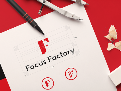 Focus Factory logo vietnam red consulting marketing freelance studio branding agency