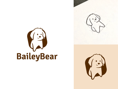 BaileyBear logo _Approved brush toy sketch shop pet negative dog accessories