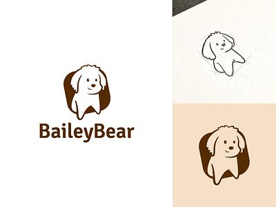 BaileyBear logo _Approved brush toy sketch shop pet negative dog accessories