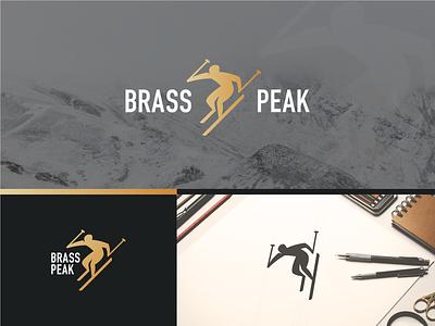 Ski Mountain logo_Day 8/50 illustration brand mark freelance symbol peak brass sport ski