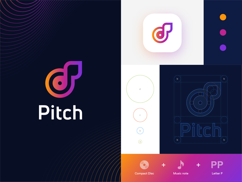 Streaming music startup logo_Day 9/50 shadows grids audio app sounds vivid gradients freelance monogram icon identity branding dailylogochallenge streaming app music app