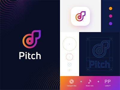 Streaming music startup logo_Day 9/50 shadows grids audio app sounds vivid gradients freelance monogram icon identity branding dailylogochallenge streaming app music app