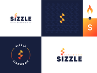 Fire logo_Day 10/50 combination mark bagde iconic ideation pattern flame monogram branding brand logo dailylogochallenge sizzle wood