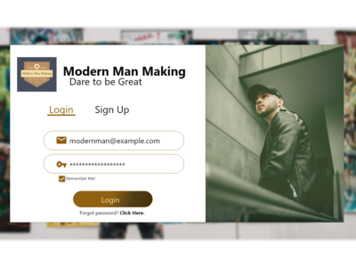 Sign Up / Login Page. :)