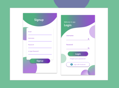 Login & Signup page Design