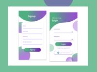 Login & Signup page Design