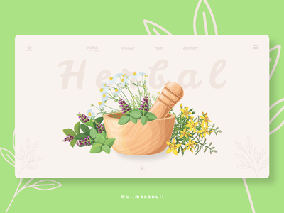 🎉 New website design 🎊 herbal webdevelopment web xd design uiux uiwebdesign uidesign ux ui graphicdesign designer webdesign website