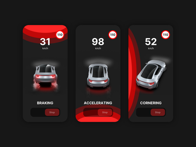 Driving events driving mobile app app ux car automotive application motion graphics graphic design 3d animation ui